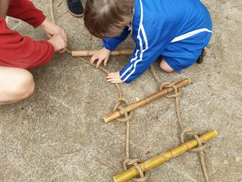 Building a rope ladder